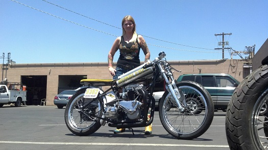 Interview: Kristine Peach – Vintage Class Bonneville Racer