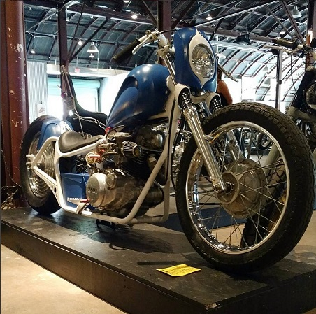 Latest pic of Pete's SR250 bobber at the Handbuilt Show